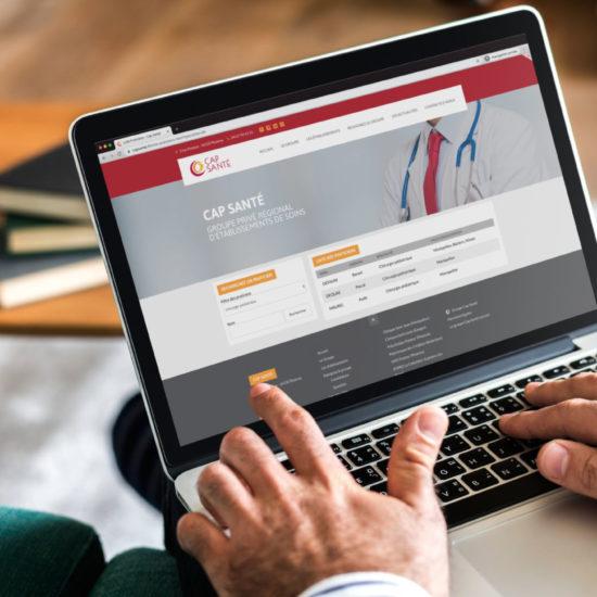 Cap Santé Page de recherche de praticien avec filtre par spécialité