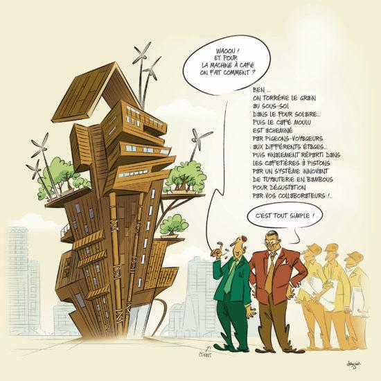 Caricature – Carte de Vœux Quadriplus Groupe 2020