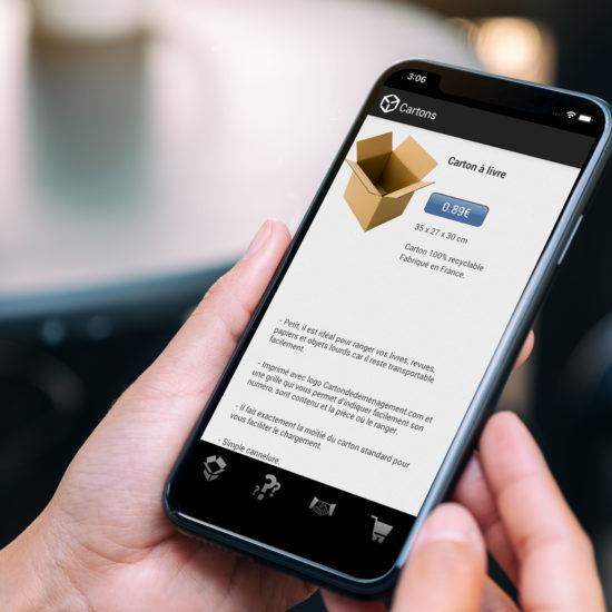 Carton application mobile 3voie agence de communication