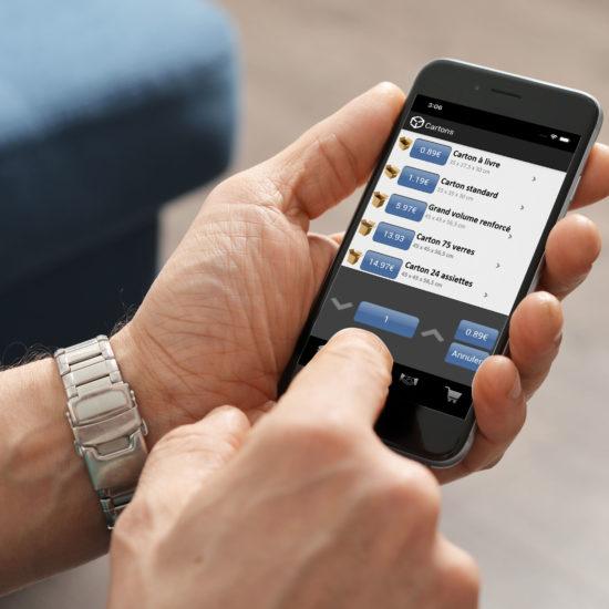 Carton validation application mobile 3voie agence de communication