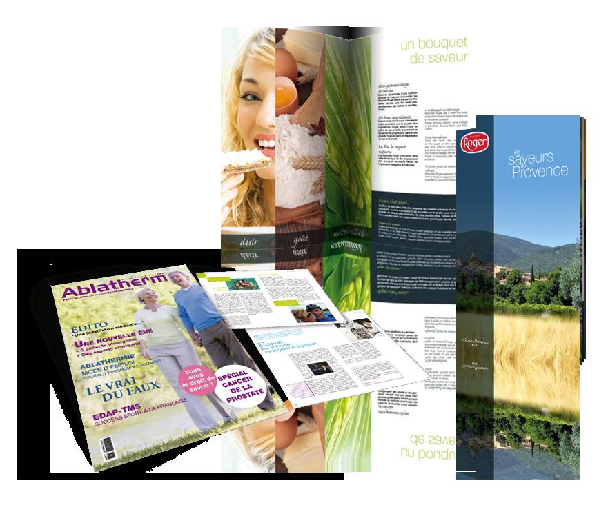 Catalogue plaquette realisations 3voie agence de communication