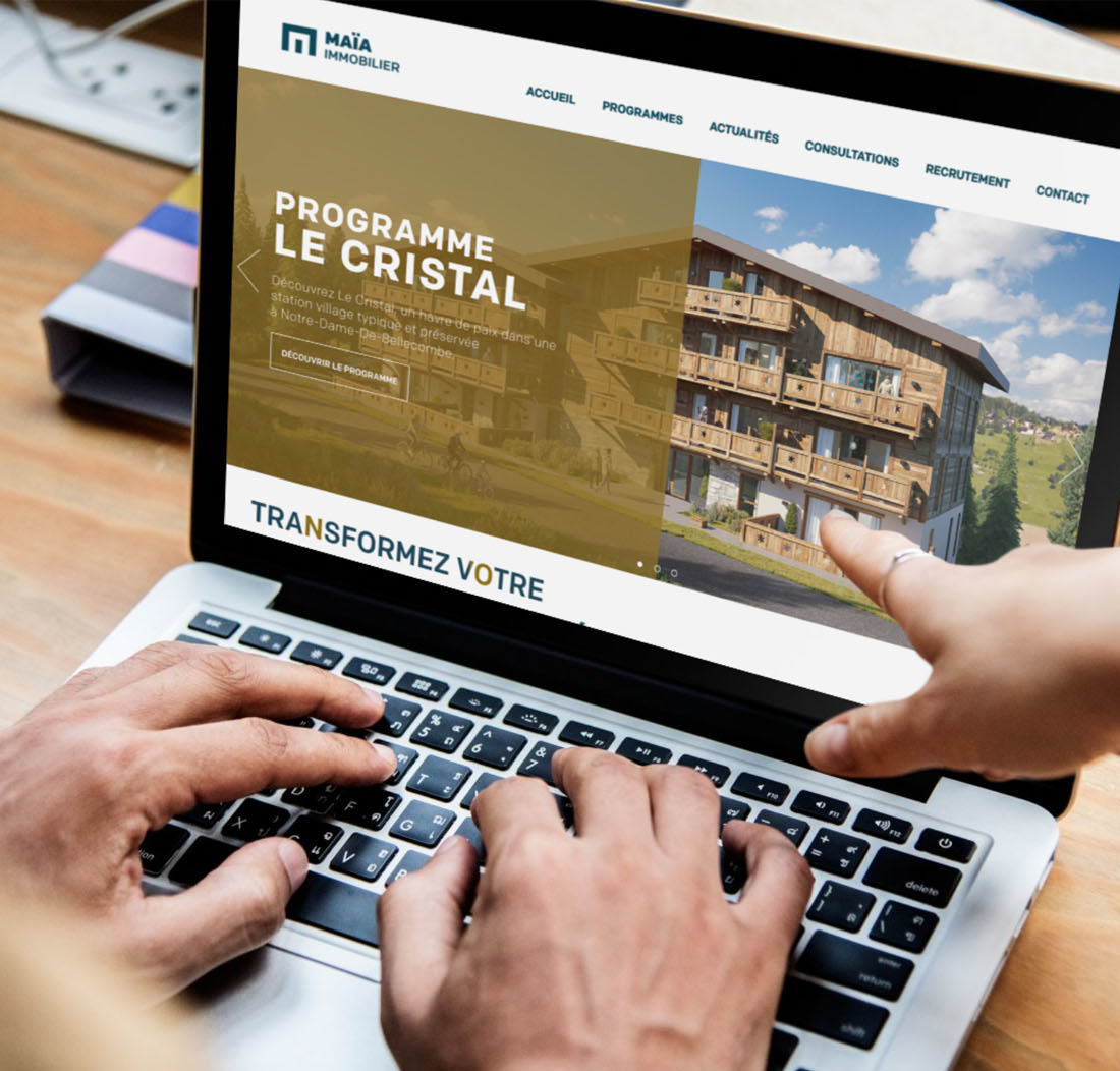 Maia Immobilier – Site Programme Immobilier – acueil